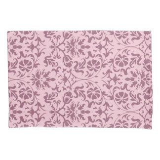 Pink Damask Floral Pattern Design Pillowcase