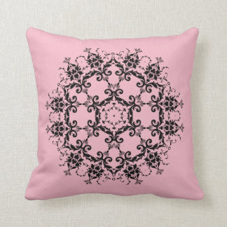 Pink Damask Flower Designed Pillow