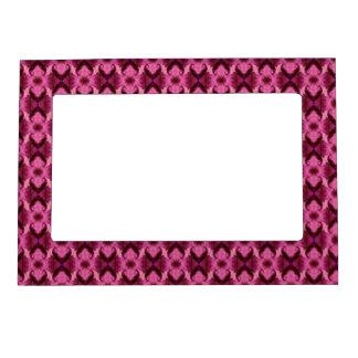 Pink Damask Hearts Magnetic Frame