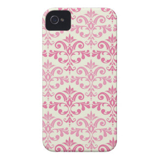 Pink Damask iPhone 4 Case-Mate Cases