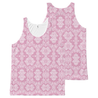 Pink Damask All-Over Print Tank Top