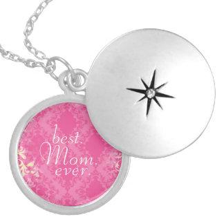 Pink Damask Mom Locket