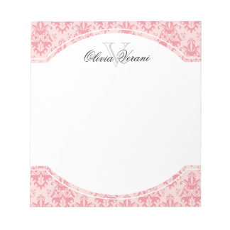 Pink Damask Pattern Notepad