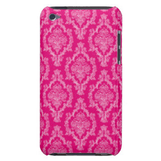 Pink Damask Pattern Print design iPod Case-Mate Cases