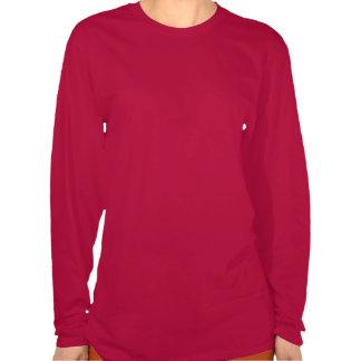 Pink Damask Pattern with Monogram Letter V Tee Shirts