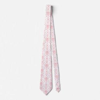 Pink Damask Tie