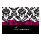 pink damask wedding Invitations