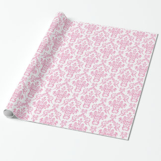 Pink Damask Wrapping Paper