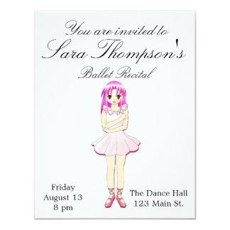 Pink Dance Recital Invitation