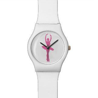 Pink Dancing Ballerina Wristwatches