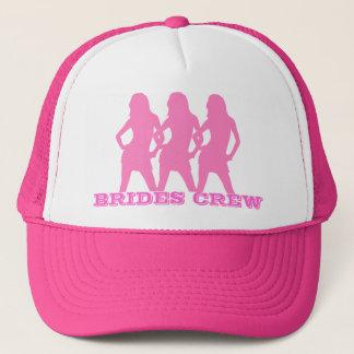 Pink dancing girls, brides crew trucker hat