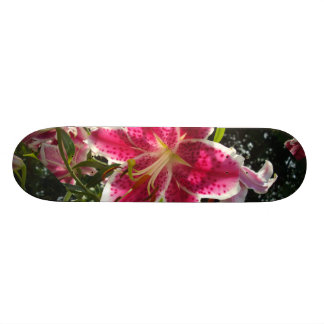 Pink Day lilies Skateboards