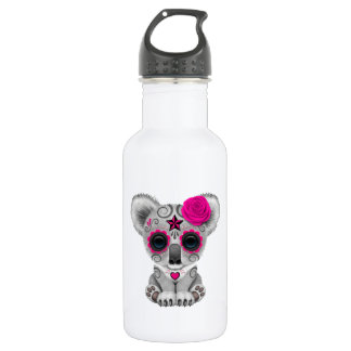 Pink Day of the Dead Baby Koala 532 Ml Water Bottle