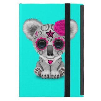 Pink Day of the Dead Baby Koala Case For iPad Mini