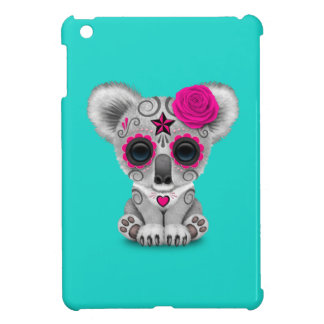 Pink Day of the Dead Baby Koala iPad Mini Case