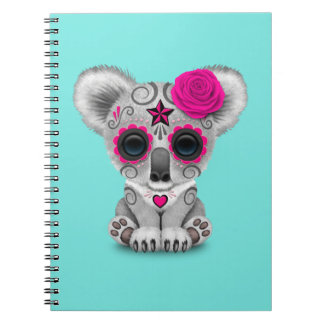 Pink Day of the Dead Baby Koala Notebook