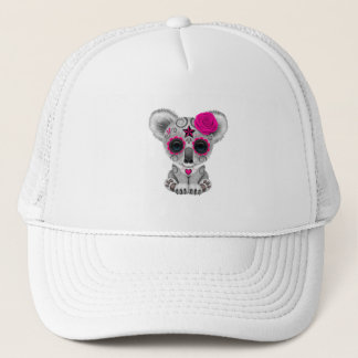 Pink Day of the Dead Baby Koala Trucker Hat