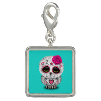 Pink Day of the Dead Baby Owl