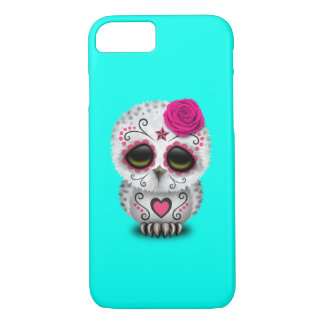 Pink Day of the Dead Baby Owl iPhone 8/7 Case