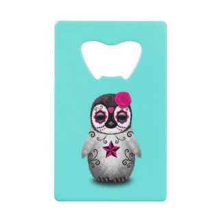 Pink Day of the Dead Baby Penguin