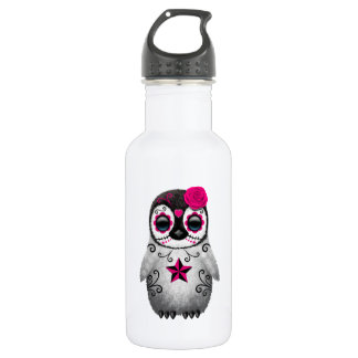 Pink Day of the Dead Baby Penguin 532 Ml Water Bottle