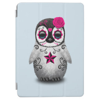Pink Day of the Dead Baby Penguin iPad Air Cover