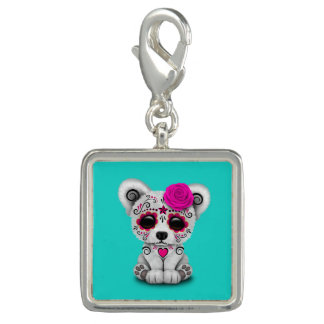Pink Day of the Dead Baby Polar Bear