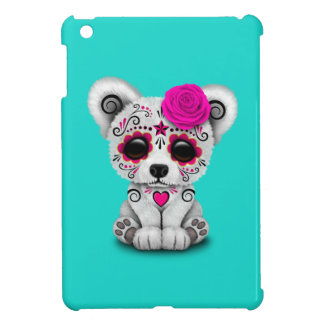 Pink Day of the Dead Baby Polar Bear Case For The iPad Mini
