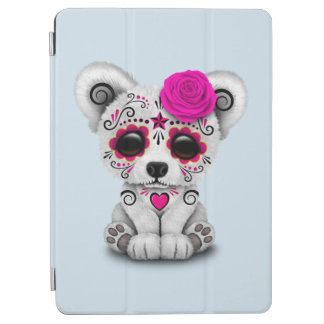 Pink Day of the Dead Baby Polar Bear iPad Air Cover