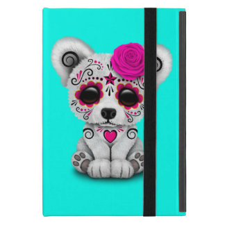 Pink Day of the Dead Baby Polar Bear iPad Mini Case