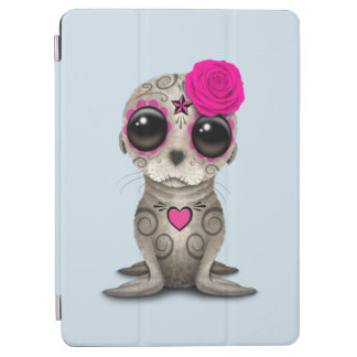 Pink Day of the Dead Baby Sea Lion iPad Air Cover