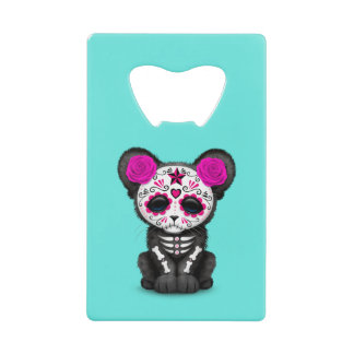 Pink Day of the Dead Black Panther Cub