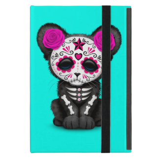 Pink Day of the Dead Black Panther Cub iPad Mini Case
