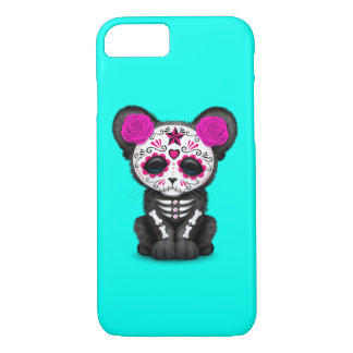 Pink Day of the Dead Black Panther Cub iPhone 8/7 Case