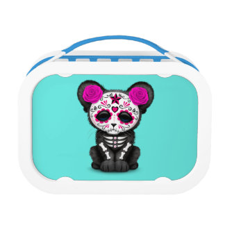 Pink Day of the Dead Black Panther Cub Lunch Box