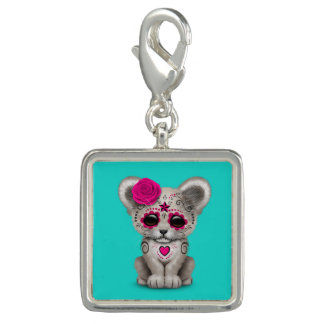 Pink Day of the Dead Lion Cub