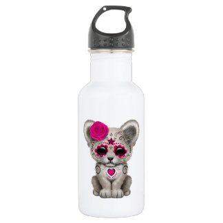 Pink Day of the Dead Lion Cub 532 Ml Water Bottle