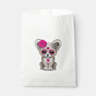 Pink Day of the Dead Lion Cub Favour Bag