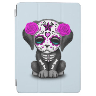 Pink Day of the Dead Puppy Dog iPad Air Cover