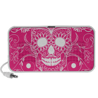 Pink Day of the Dead Travel Speaker