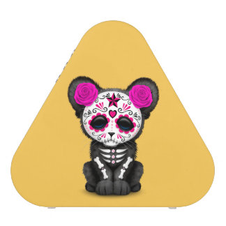 Pink Day of the Dead Sugar Skull Panther Cub