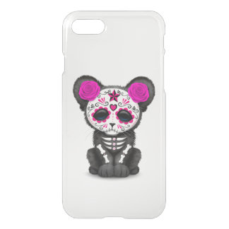 Pink Day of the Dead Sugar Skull Panther Cub iPhone 7 Case