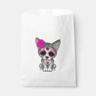 Pink Day of the Dead Wolf Cub Favour Bag