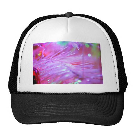 Pink decorations mesh hats