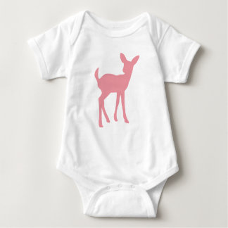 Pink Deer Woodland Princess Baby Bodysuit