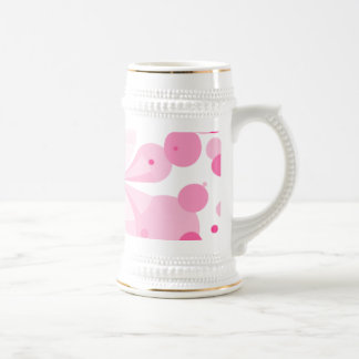 Pink Delight Buttefly Abstract Stein Beer Steins