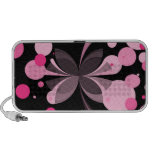 Pink Delight Butterfly Abstract Doodle Speaker