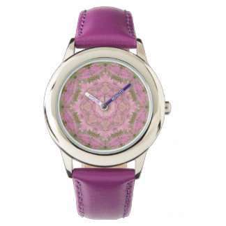 Pink Delight Vintage Floral Mandala Watch