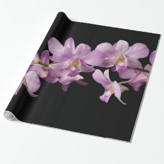Pink Dendrobium Orchid Flower - Floral Orchids Wrapping Paper
