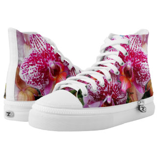 Pink Dendrobium Orchids Printed Shoes